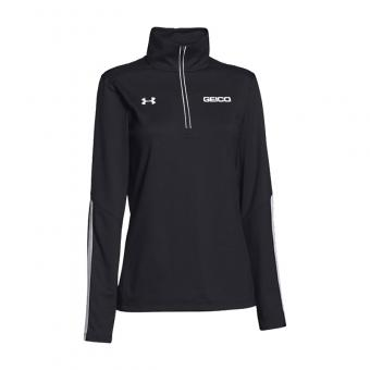 GEICO Women's Under Armour 1/4 Zip (Black)