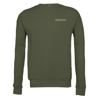 GEICO Bella + Canvas Military Green Unisex Crewneck