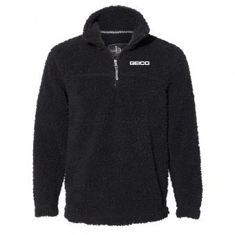 GEICO Sherpa Fleece 1/4 Zip - Black