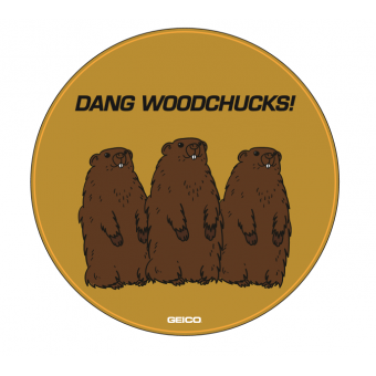 GEICO Woodchuck Sticker