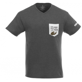 GEICO Mens Sloth Pocket Tee - Grey