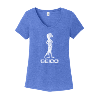 GEICO Women's Distressed Tee (Royal)