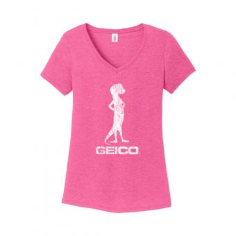 GEICO Women's Distressed Tee (Pink)
