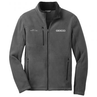 GEICO MEN'S EDDIE BAUER FLEECE JACKET (GREY)